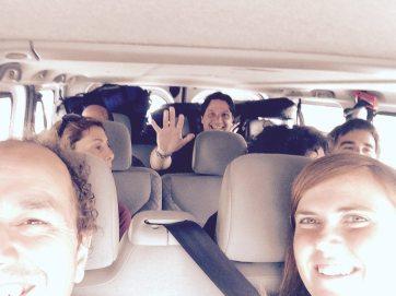 Selfie Ro in de bus